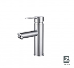 L-6021 Single-Handle Bathroom Water Tap Basin Faucet in Chrome