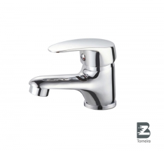 L-6024 Single-Handle Bathroom Water Tap Basin Faucet in Chrome