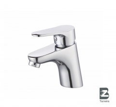 L-6022 Single-Handle Bathroom Water Tap Basin Faucet in Chrome