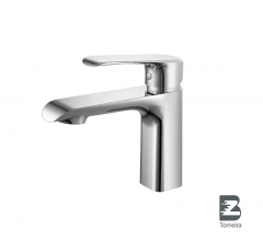 L-6014 Single-Handle Bathroom Water Tap Basin Faucet in Chrome