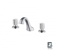 BC-7005 Sanitary Ware 3 Holes Two Handle Deck Mounted Basin Mixer Tap Faucet