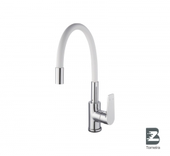 P-8012 Single Handle White Spout Kitchen Faucet