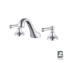 BC-6028 Sanitary Ware 3 Holes Two Handle Deck Mounted Basin Mixer Tap Faucet