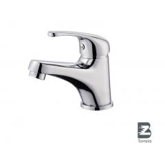 L-6025 Single-Handle Bathroom Water Tap Basin Faucet in Chrome
