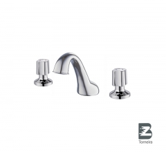 BC-7004 Sanitary Ware 3 Holes Two Handle Deck Mounted Basin Mixer Tap Faucet