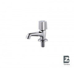 LA-7004 Chrome Small Bathroom Taps Mixer Faucet With Cover