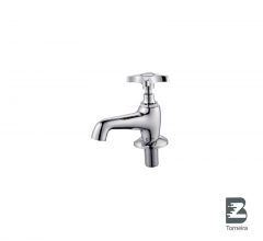 LA-7006 Chrome Small Bathroom Taps Mixer Faucet With Cover
