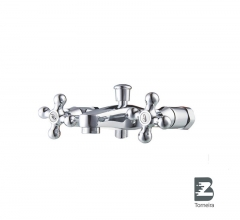 T-7002 Two Handle Bath Faucet in Chrome