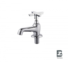 LA-7001 Chrome Small Bathroom Taps Mixer Faucet With Cover