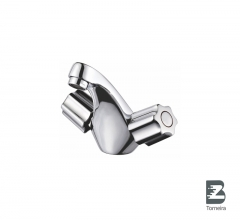 LB-7005 Double Handle Bathroom Water Faucet Mixer Tap in Chrome