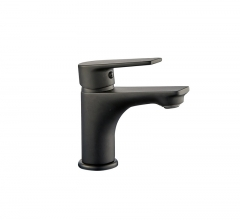 L-6012-F Single-Handle Bathroom Water Tap Basin Faucet Black Matte